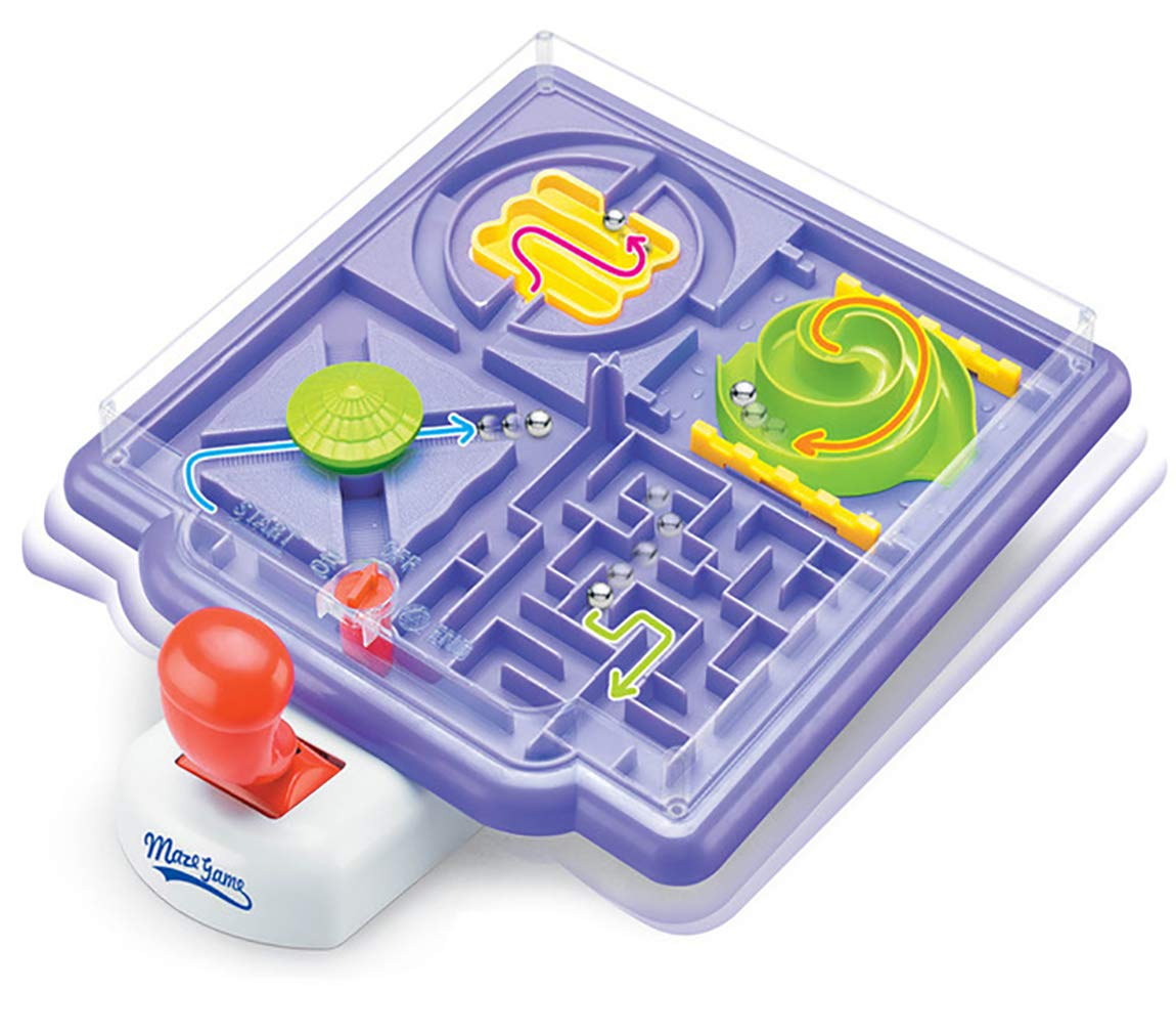 Pinball Machine Tilt Maze Game , 4 in 1 Mazes with Tilting Joystick. Puzzle Labyrinth Maze Game , Educative Toy for Focus and Motor Skills by Luo Dian