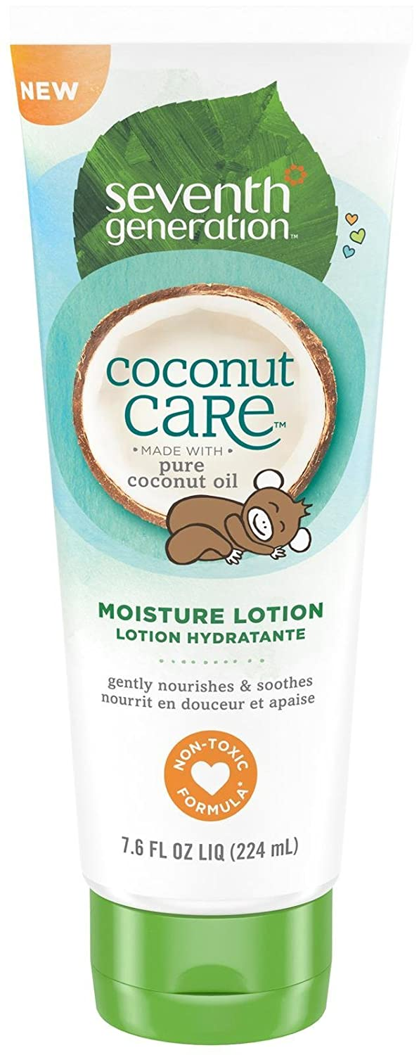 Seventh Generation Baby Lotion With Moisturizing Coconut Care Tube, 7.6 Ounce 7th Generation