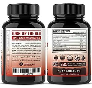 Premium Horny Goat Weed Extract - 10X Strength Icariins with Maca, Tribulus & Ginseng - Energy & Performance Complex for Men & Women, 1000mg Epimedium Powder Pills Supplement, Vegan Capsules