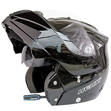 Amazon.com: Casco de motocicleta con Bluetooth, funda de ...