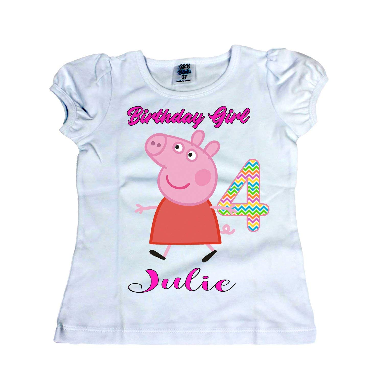 Girl Peppa Pig shirt Girl Peppa Pig birthday shirt Girl shirts