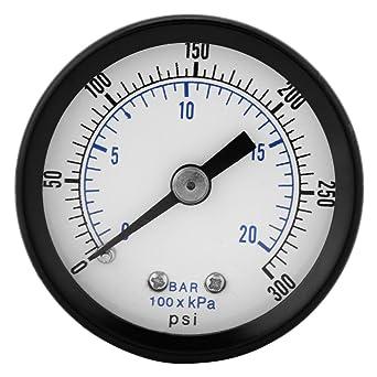 "Manómetro, 1/8""BSPT Mini Dial Manómetro Manómetro para Fuel Air Oil Agua"