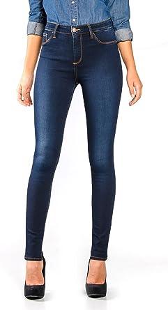 Tiffosi One Size High 1 Vaqueros Slim Azul Dark Wash Tamano Del Fabricante T U Para Mujer Amazon Es Ropa Y Accesorios
