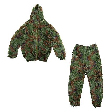Uniforme de camuflaje camuflaje caza Traje Bosque Paisaje Breathable Ropa Set para la selva (
