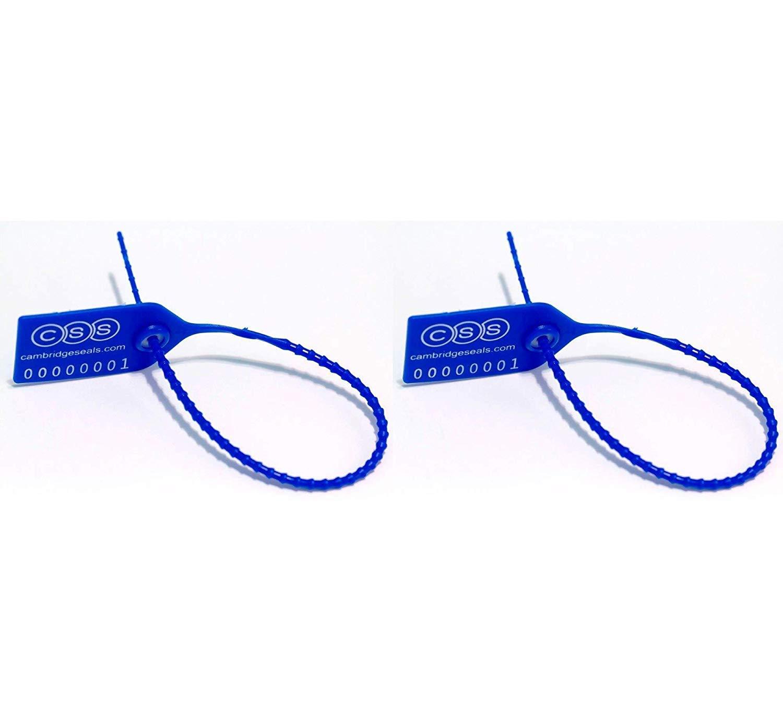 Cambridge Security Seals MPT00102 Medium Pull Tight Seal, Blue (Pack of 1000) (2)