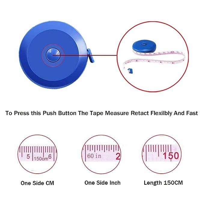 Amazon Tape Measure 150 Cm 60 Inch Push Button Tape Body