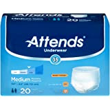 Attends Extra Adult Underwear, Medium, Moderate Absorbency, AP0720 - Case of 80