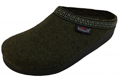Men's Wool Clog with Poly Sole Military