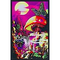 Impresión genérica del cartel del arte de los hongos Trippy de Magic Valley - 24x36 impresión de carteles de la luz negra de la universidad, 23x35