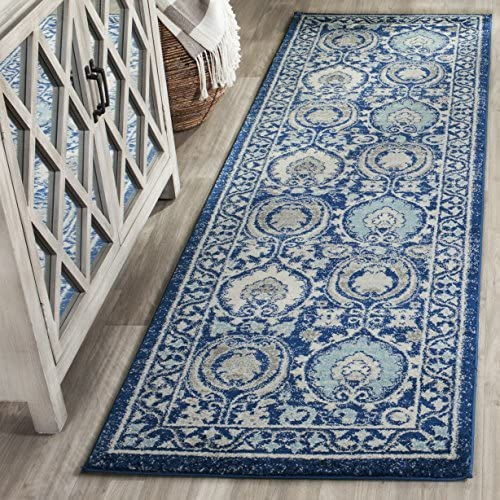 Safavieh Evoke Collection EVK251C Contemporary Blue and Ivory Area Rug 2 2 x 4