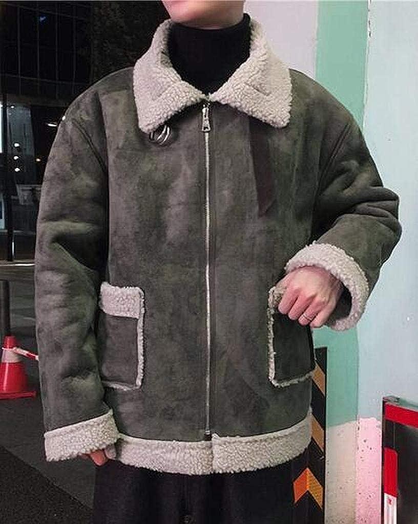 WAWAYA Men Loose Fit Faux Fur Lined Winter Oversized Down Quilted Jacket Coat Outerwear