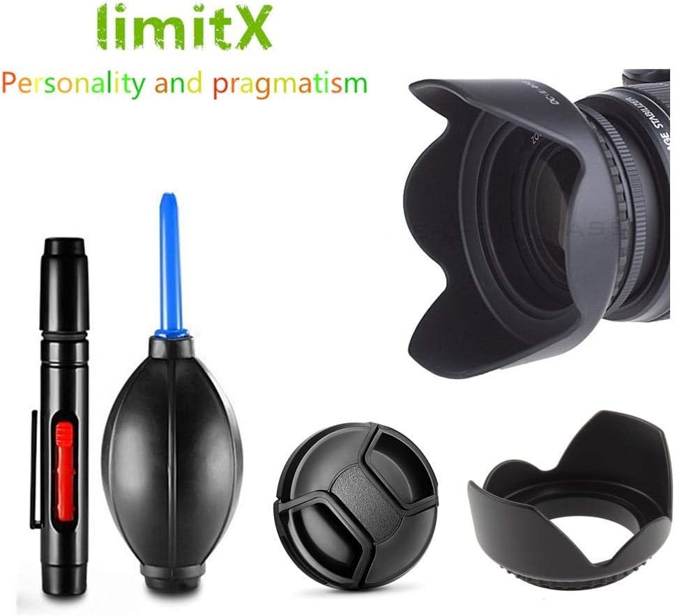 Camera Lens Hood - 55mm Lens Hood/Cap/Cleaning pen/Air Blower Pump for Lumix DMC FZ72 FZ70 FZ50 FZ30 Digital Camera