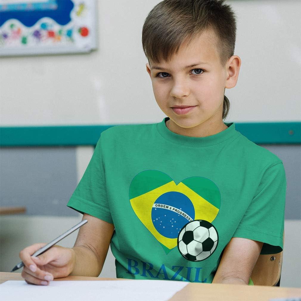 Brazil Infant T-Shirt Dark TooLoud Soccer Ball Flag
