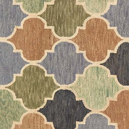Stone & Beam Quarterfoil Wool Area Rug, 4' x 6', Light Multi by Stone & Beam (Image #1)