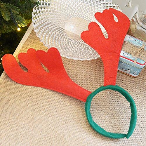 Lulufu Elk Antlers Bells Christmas Head Buckle Christmas Headwear Creative Headwear Christmas Decorations Ordinary/15g