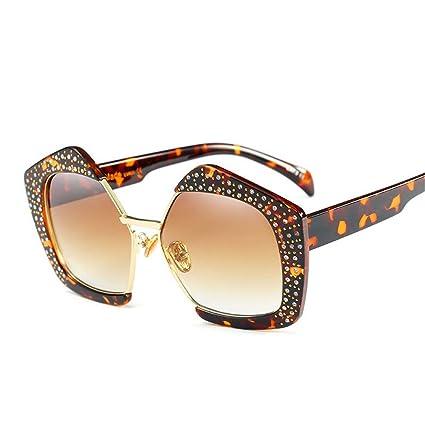 GUO Las Gafas de Sol Gran Caja Fina Tendencia Personalidad ...