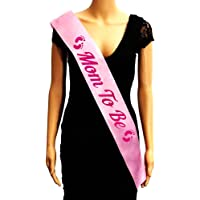Party Propz Mom to Be Sash for Baby Shower Decoration (Multicolour)