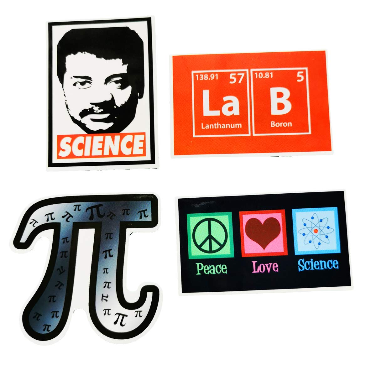 Lab Vinyl Science Experiments Lab Stickers Pack 50 Pcs Science Big Decals for Pack for Water Bottles Laptop Cute Tube Instrument Einstein Chemistry Maths for Kids,Skateboard iPhone,Party