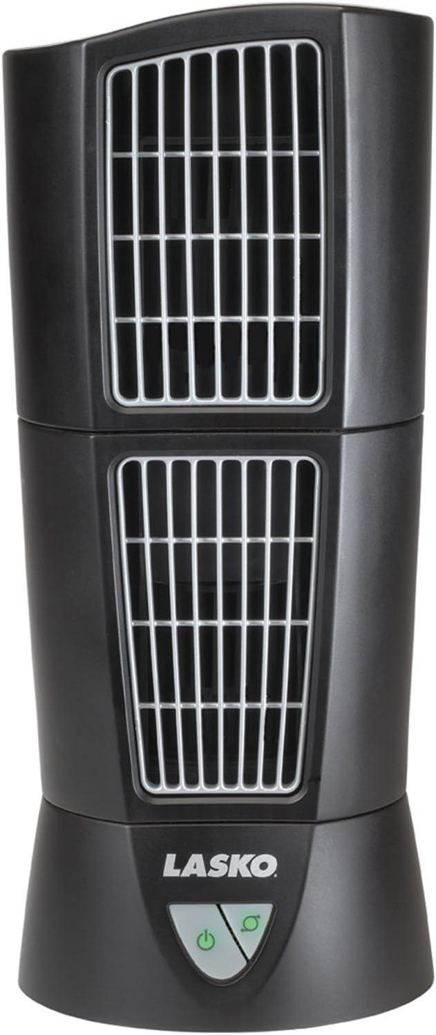 Lasko 4916 Desktop Wind Tower Oscillating Fan (2-Pack)