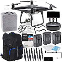 DJI Phantom 4 PRO+ PLUS Obsidian Edition Drone Quadcopter Includes Display (Black) Ultimate Backpack Bundle