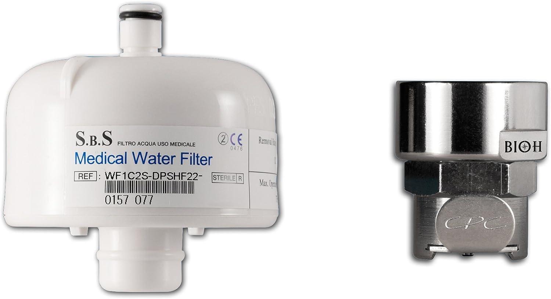 Filtro Terminal anti Legionella con racor para grifo 22 mm Rosca ...
