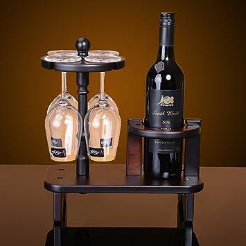 WEII Estante para Vinos Portavasos de Madera Creativa Porta Estantes para Vino Estante de Almacenamiento Decorativo Multifuncional,Imagen,Un tamaño: ...