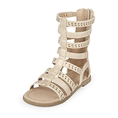 045da95c5e637 The Children's Place Kids' Tg Gladiator San Flat Sandal