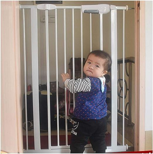 Puerta De Bebé Cerca De Chimenea Puerta De Seguridad For Bebé Con Cierre Automático For Escaleras Pasear Por Escalera De Doble Cerradura Expandible Cerca De Perro For Mascotas Puerta De Aislamiento De: