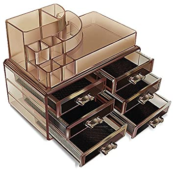 Amazoncom Black Acrylic Cosmetics Makeup Jewelry Organizer 6