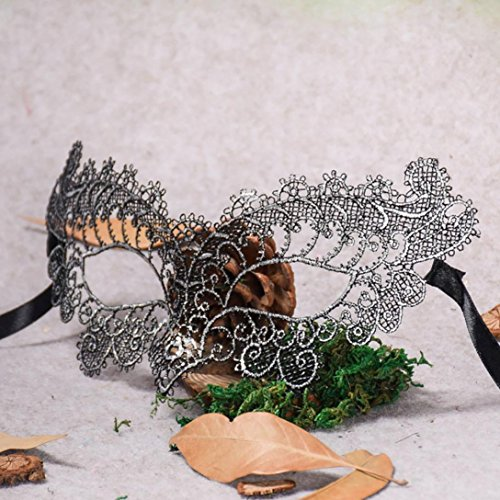 Holy Week Christmas Venetian Metal Masking Mask Masquerade Lace Mask Catwoman Halloween Cut Out Prom Party Mask Accessories (Silver) (Halloween Party Meal)