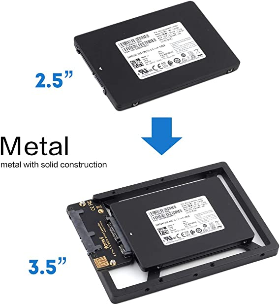 Amazon Com 2 5 To 3 5 Drive Converter Internal Solid State Ssd Card Hard Drive Bracket Adapter Sata Ssd Enclosure Caddy Dock Desktop Mac Pc 2 5 To 3 5 Mounting Hardrive For Samsung Crucial Sandisk