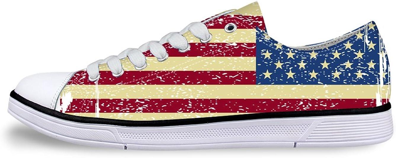 AXGM - Zapatillas Deportivas para Hombre, cómodas, de Lona, Estilo Retro, con diseño de Bandera y Estrellas, Tallas Grandes: Amazon.es: Zapatos y complementos