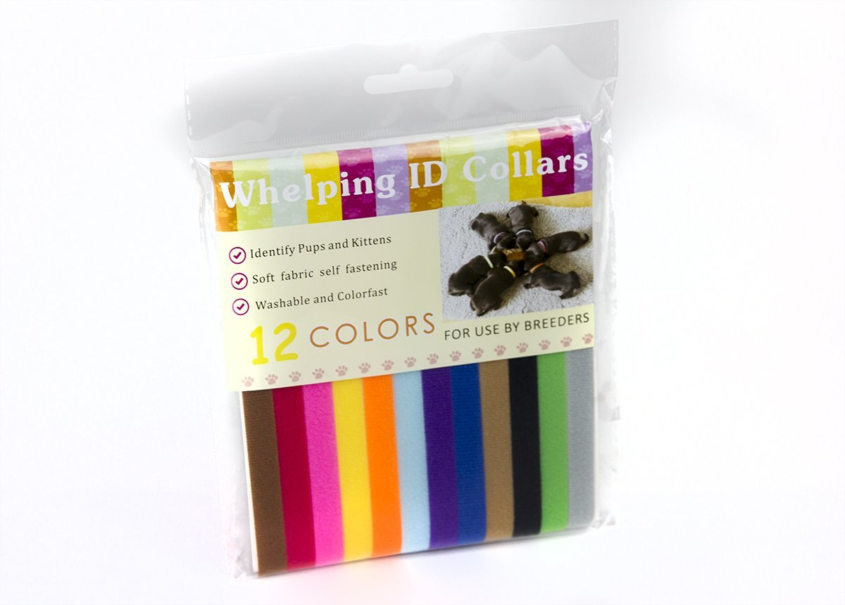 Solstice Puppy ID Collars Whelp velcro cotton (12 Pack). Reuseable