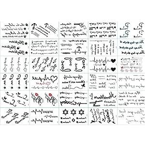 Tatuajes temporaires Unisex Tattoos éphémères personalizado 30 ...