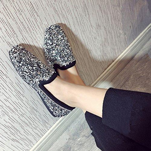 GAOLIM Soja Zapatos Mujer De Fondo Plano De Perforación De Agua Superficial Solo Zapatos