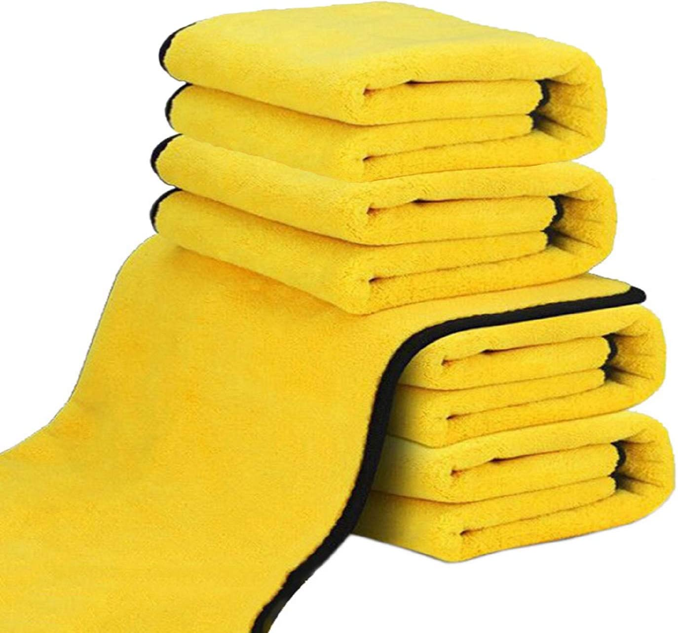 12 in. x 12 in. Drying Detailing 5PCS Extra Thick Micro Fibers Towels Super Absorbent Microfiber Towels for Cars//Detailing//Interior Lint Free Drying Towel Car Washing