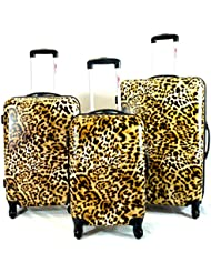 Bovano 3pc Luggage Set Hardside ABS Rolling 4wheel Spinner Carryon Travel Case