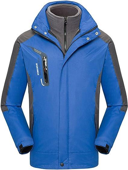 ジャケットワークウェアスリーインワンプラスベルベット厚い取り外し可能秋と冬のウインドブレーカーの潮のジャケット(ユニセックス)