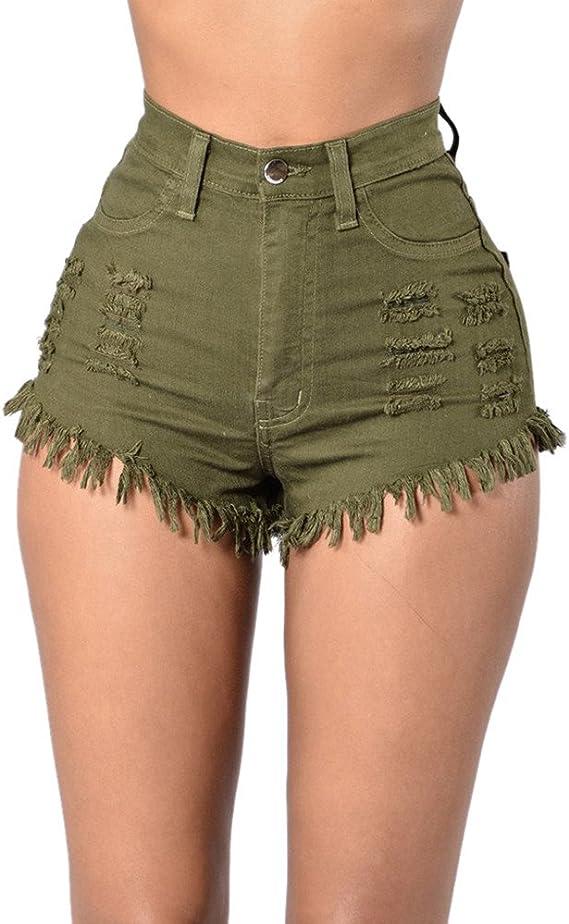 Femmes Imprimé Camouflage Taille Haute Stretch Shorts Hot Pants