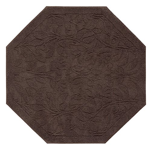 (Mohawk Home Foliage Chocolate Octagon Accent Rug, 4'x4')