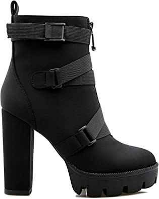 Chunky High Heel Booties