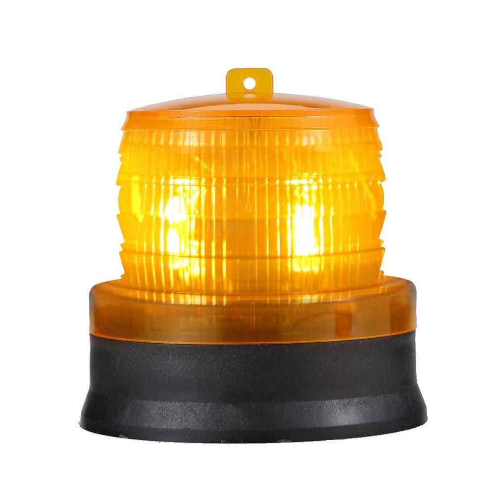 Lixada Outdoor Portable Solar Powered Light Sensitive Strobe Flash Warning Car Vehicle Magnetic Mounted LED Caution Lamp