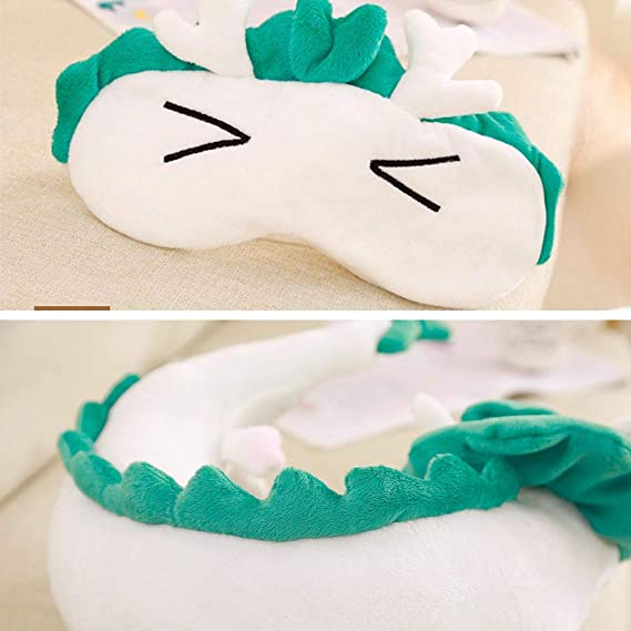 Amazon Com Tikambe Spirited Away Haku Dragon Neck U Pillow Japanese Anime Stuffed Animal Body Travel Pillow Sleeping Eye Mask Toys Games