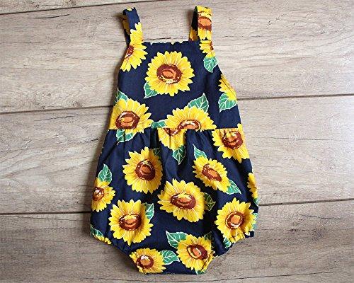 SALE Navy Sunflower Baby Girl Romper Bubble Romper Birthday Gift
