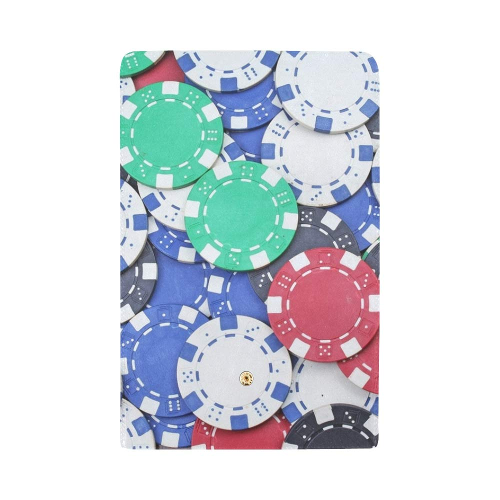 68af0949ac1f Unique Custom Casino Poker Money Chips Texture Stack Women Trifold ...