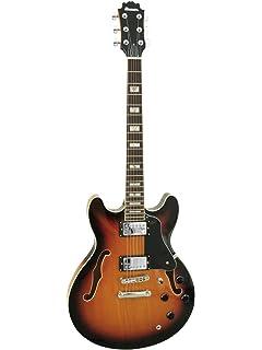 Guitarra de jazz RIVER EARL, semiacústica, sunburst - Guitarra de ...
