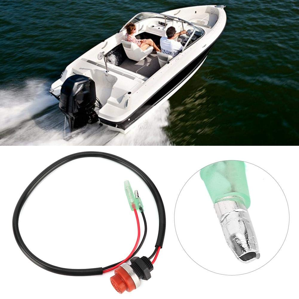 Outboard Engine Switch Keyless Push Button Switch for Marine Boat Yatch Outboard Engine Aramox Start Stop Switch