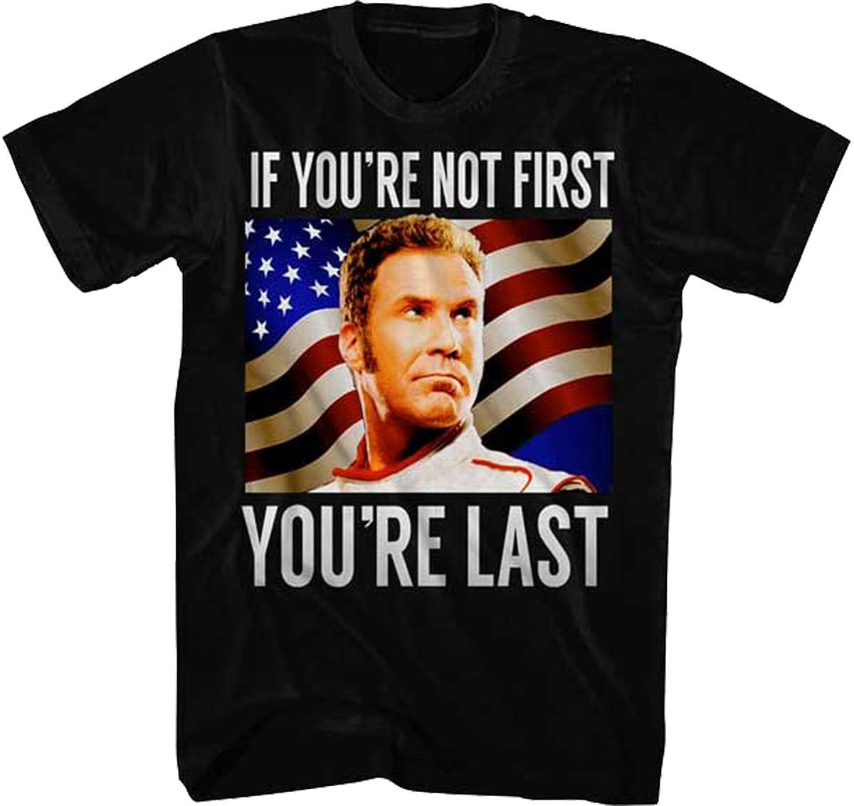 Talladega Nights Men's Talladega Nights You're Last Graphic T-Shirt, Black, X-Large
