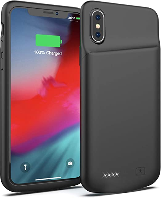 Amazon Com Battery Case For Iphone X 4000mah Portable Protective Charging Case Extended Rechargeable Battery Pack Charger Case Compatible With Iphone X 10 5 8 Inch