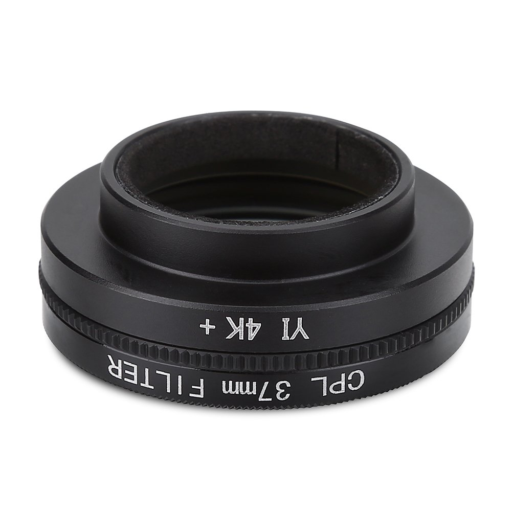 4k Acouto Polfilter 37mm CPL Filter YI with Adapter Ring Lens Hood for Xiaomi Yi 4k // Lite